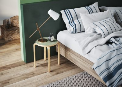Linosa zelfklevend linoleum voor houten kruk Ikea Frosta -Artek Stool E60