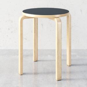 Linosa zelfklevend linoleum voor de houten kruk Ikea Frosta -Artek Stool E60